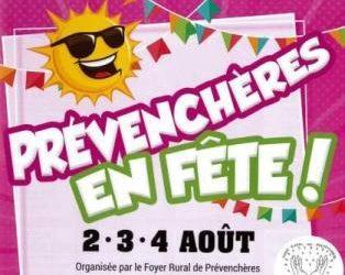 Prévenchères en Fête  2 – 3 – 4 août 2019